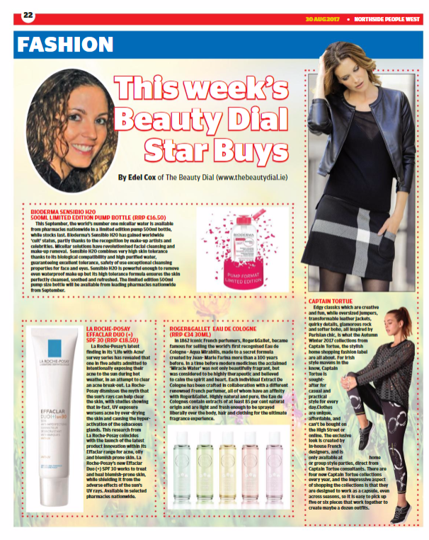 Dublin People Newspapers beauty and fashion page.PNG