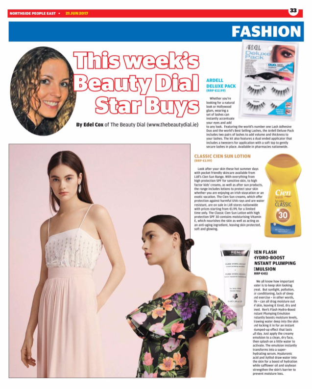 The Beauty Dial Star Buys - Dublin People Newspapers beauty & fashion page