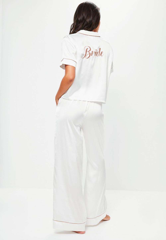 white-satin-bride-piped-pyjama-set