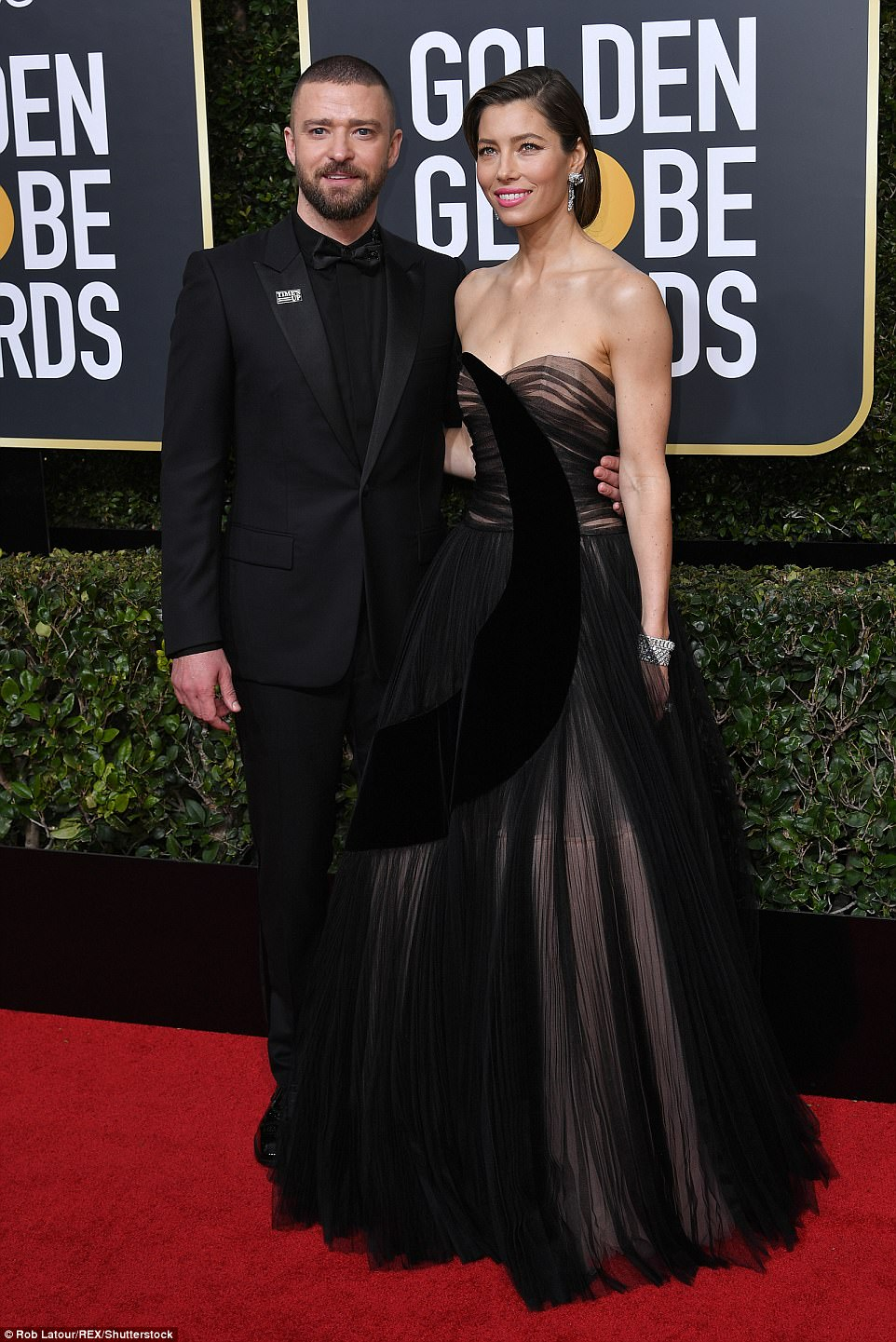 Justin Timberlake and Jessica Biel Golden Globes The Beauty Dial