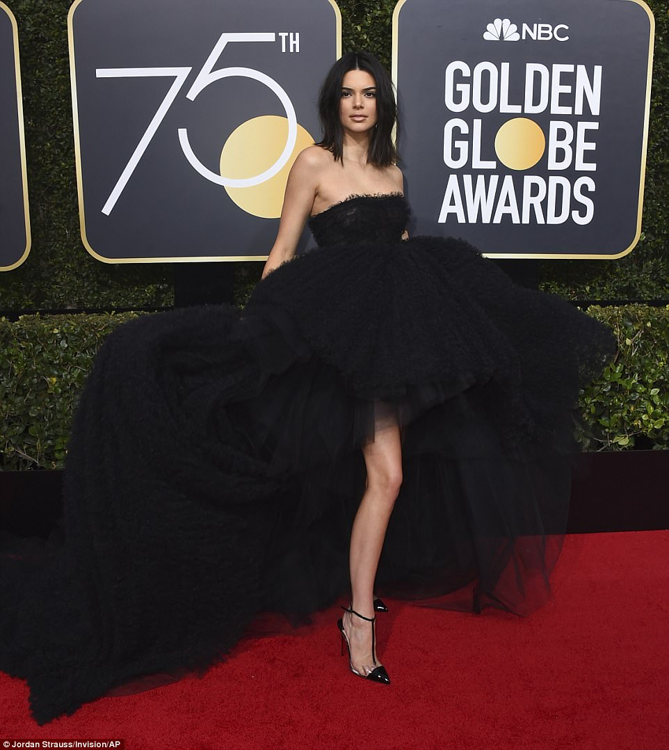 Kendall Jenner Golden Globes The Beauty Dial