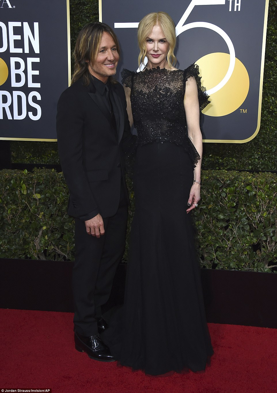 Nicole Kidman and Keith Urban Golden Globes The Beauty Dial